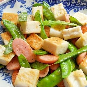 はんぺんと魚肉ソーセージの炒め物