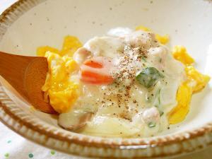 リメイク♪ホワイトシチューかけふわ卵♪