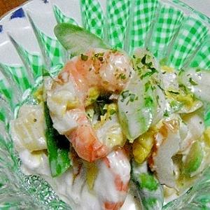 エビ&アスパラの白菜サラダ
