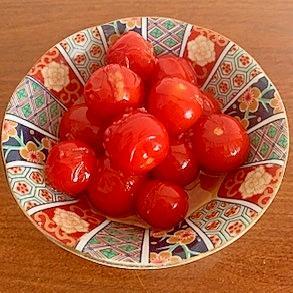 ミニトマトのいしる糀炒め