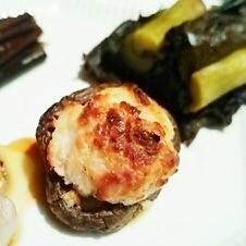 簡単おつまみ、椎茸の酒粕チーズしゅうまい