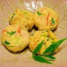 減塩☆具だくさんレンジ茶巾卵