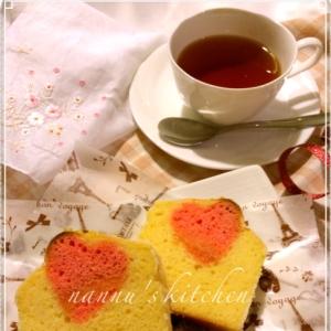 甘酸っぱい♥バレンタインに隠しハートパウンドケーキ