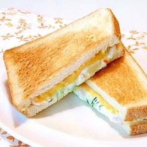 ポテトサラダとチーズのトーストサンド