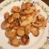 つぶ貝とベビーホタテのバター焼き