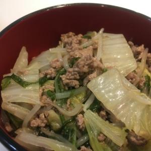 挽肉と白菜の和風あんかけ丼