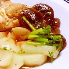 ハーブ香る♪鶏と茸と蕪の煮物