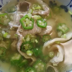 豚肉とオクラのしょうがスープ(^^)