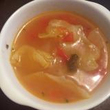 キャベツとフレッシュトマトのコンソメスープ