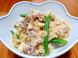 牛肉とうの花の炒り煮☆すきやき風味★おから