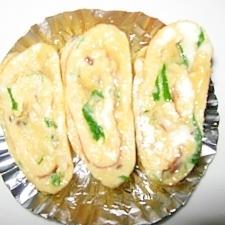椎茸・水菜の玉子焼き