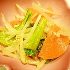 小松菜と人参のごま和え