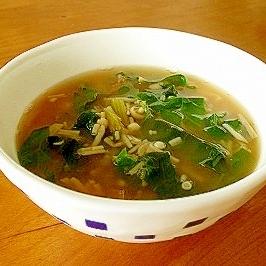 簡単美味しい☆えのきとスイスチャードのスープ♪