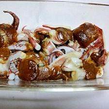 オーブントースターで簡単!イカのワタ焼き
