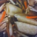 生姜ときのこたっぷりの餃子スープ