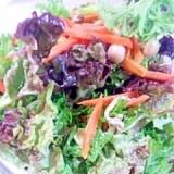 わさび菜ときのこのサラダ