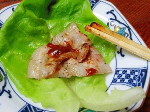 サムギョプサル風☆ 「豚バラ塩焼サラダ菜包み」