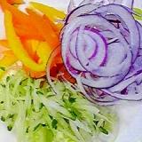 ノンオイルでさっぱり☆3色サラダ♪