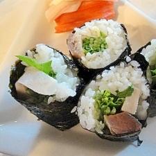 適当…〆サバと水菜の巻き寿司