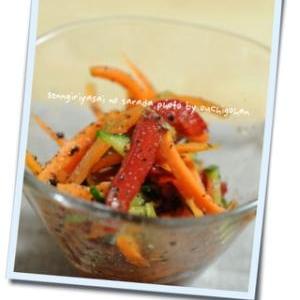 混ぜるだけ!千切り野菜のサラダ。