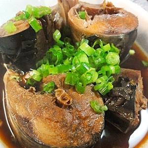 圧力鍋で、鯖の醤油煮