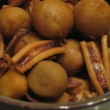 冷凍里芋とイカの煮物♪