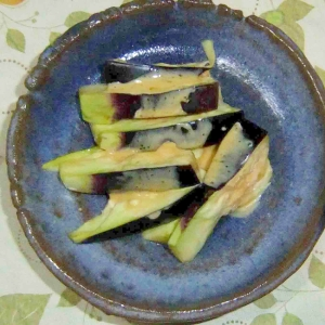 水茄子のマヨネーズ醤油和え