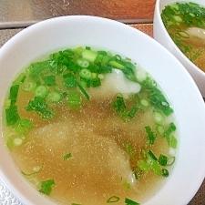 市販の餃子で中華スープ