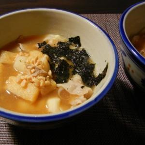 納豆と長芋の豚汁