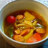今日は簡単~♪カレースープにしよう~♪