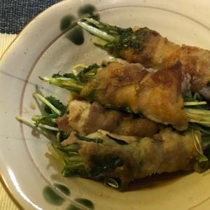 水菜の豚肉巻き☆甘辛