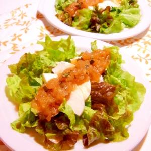 カプレーゼ風サラダ(トマトとバジルのドレッシング)