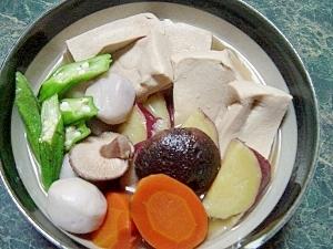 素朴な美味しさ☆高野豆腐と野菜の田舎煮