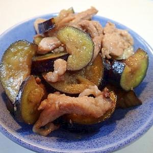 豚肉と茄子の甘味噌炒め