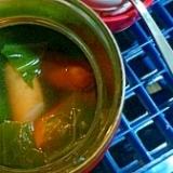 簡単スープジャーでお弁当☆コンソメスープ