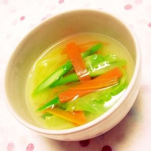 ルクエで下準備♡三種の彩り野菜スープ
