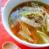 お野菜たっぷり生姜スープの水餃子
