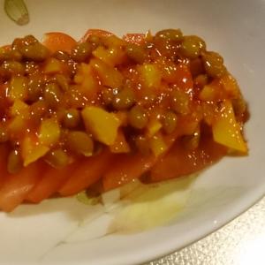 トマトのキムタク納豆がけ