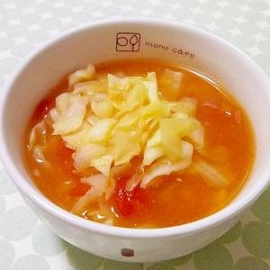 カレー風味☆トマトきゃべつみそ汁☆