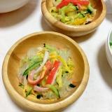 すし酢とタイドレで胡瓜かにかま卵の春雨サラダ♡