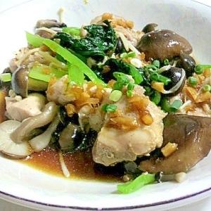 レンジで楽チン!蒸し鶏と小松菜の中華サラダ