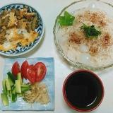 ゴーヤのチャンプルde素麺ランチ