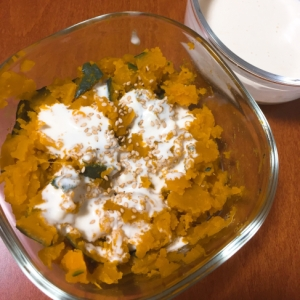 ●レンジで簡単◎かぼちゃのサラダ◎ヨーグルトソース