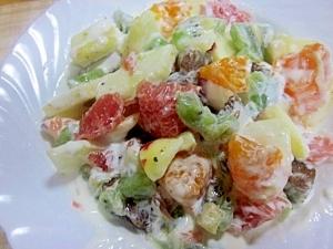 家にある果物で~おまかせフルーツサラダ風