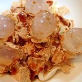 ❤杏仁豆腐とわらび餅入り 玄米フレークデザート❤