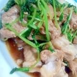 中華でおいしく!豆苗と豚肉の炒め物
