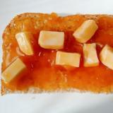 水切り豆腐と梅ジャムのトースト