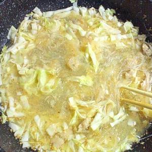 何もない時のはるさめ担々麺風スープ
