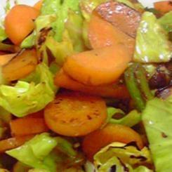 余った食材で野菜炒め