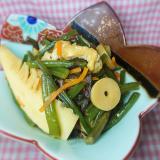 めんつゆで★山菜の水煮とタケノコの煮物